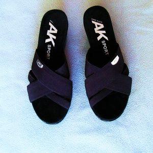 Anne Klein Sport Black wedge sandals